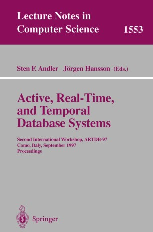 Active, Real-Time, and Temporal Database Systems