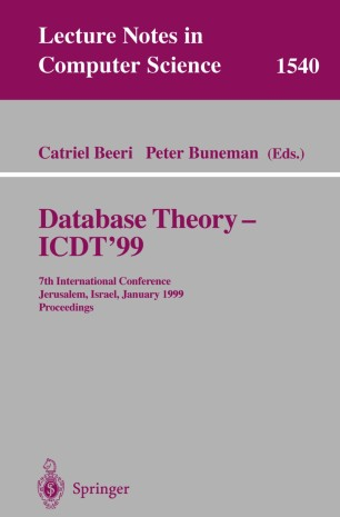 Database Theory — ICDT'99