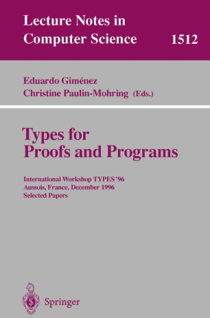 Types for Proofs and Programs
