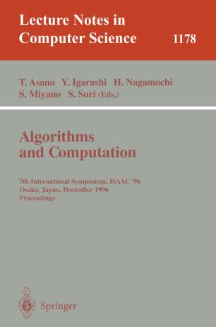 Algorithms and Computation