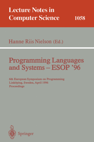 Programming Languages and Systems — ESOP '96