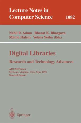 Digital Libraries Research and Technology Advances