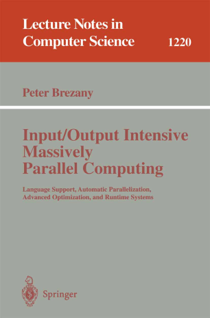 Input/Output Intensive Massively Parallel Computing