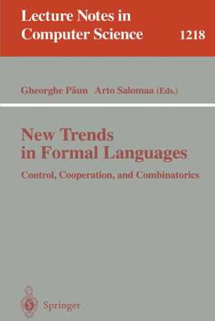 New Trends in Formal Languages