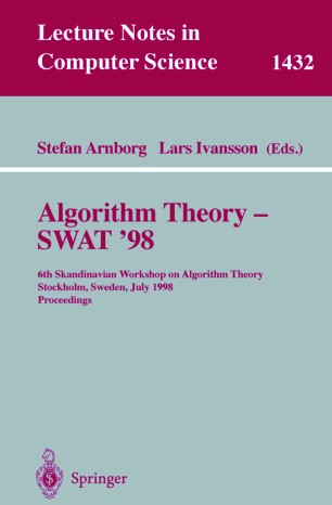 Algorithm Theory — SWAT'98