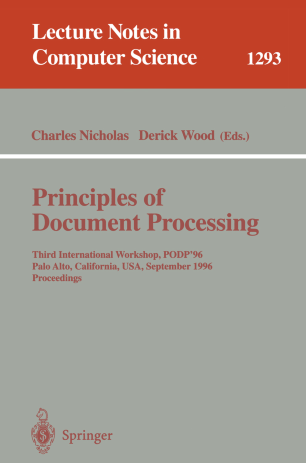 Principles of Document Processing