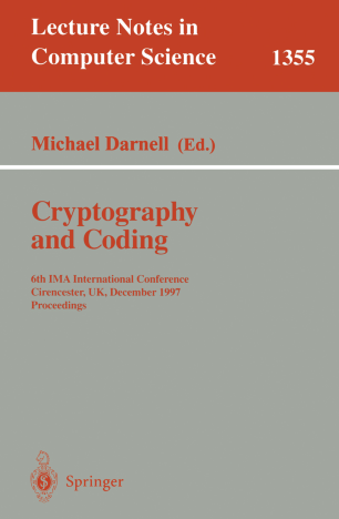 Crytography and Coding