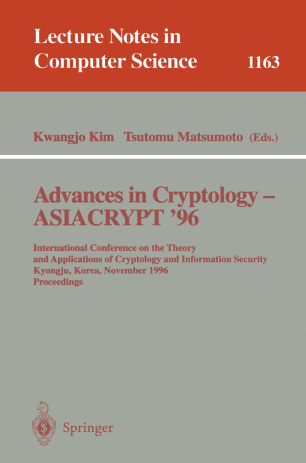 Advances in Cryptology — ASIACRYPT '96