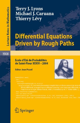 Differential Equations Driven by Rough Paths