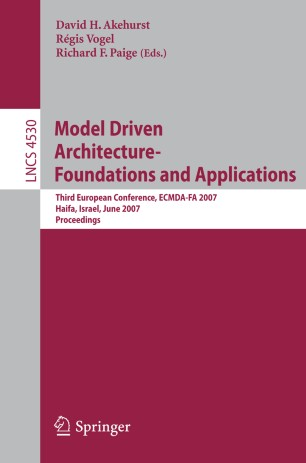Model Driven Architecture- Foundations and Applications