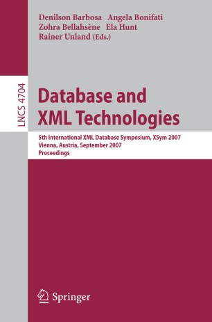 Database and XMLTechnologies