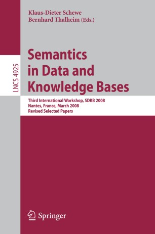 Semantics in Data and Knowledge Bases