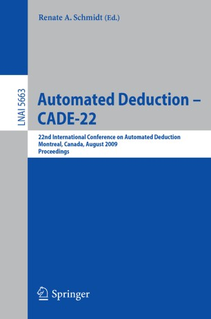 Automated Deduction – CADE-22