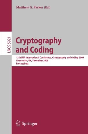 Introduction To Cryptography With Coding Theory 2nd Edition Pdf
