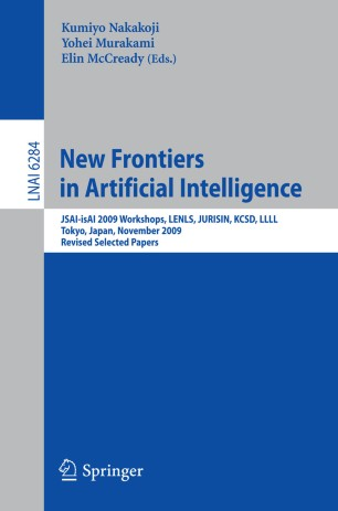 New Frontiers in Artificial Intelligence