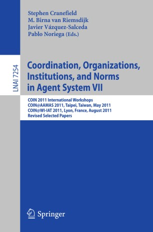 Coordination, Organizations, Institutions, and Norms in Agent System VII