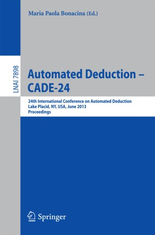 Automated Deduction – CADE-24