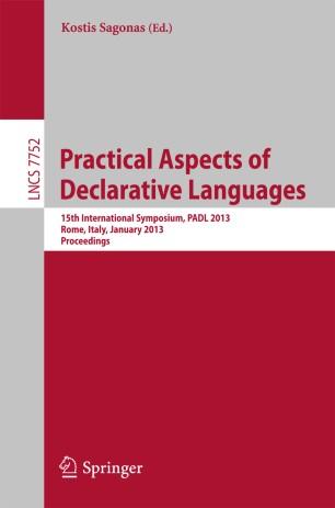 practical aspects of declarative languages springerlink