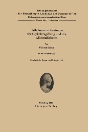 Pathologische Anatomie der Glykolvergiftung und des Alloxandiabetes