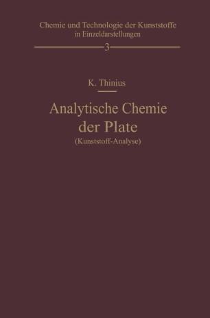 Analytische Chemie der Plaste (Kunststoff-Analyse)