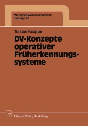 DV-Konzepte operativer Früherkennungssysteme