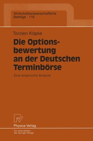 Die Optionsbewertung an der Deutschen Terminbörse
