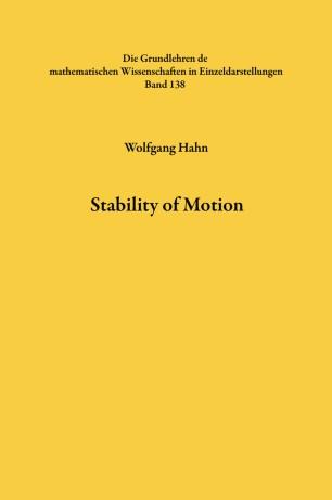 Stability of Motion | SpringerLink