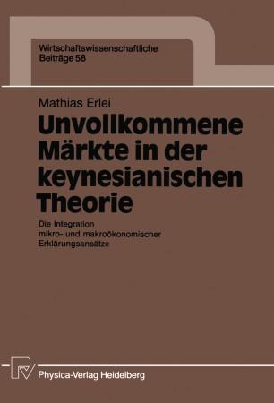 Unvollkommene Märkte in der keynesianischen Theorie