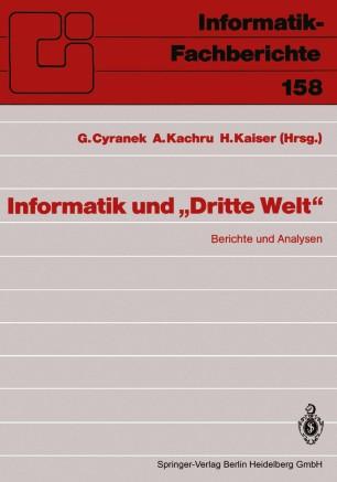 """Informatik und """"Dritte Welt"""""""