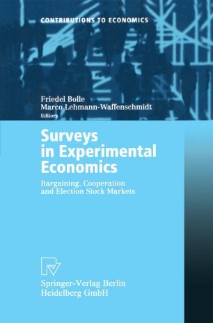 experimental economics rethinking the rules pdf
