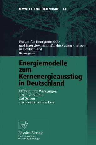 Energiemodelle zum Kernenergieausstieg in Deutschland