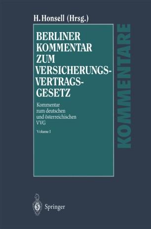 Berliner Kommentar zum Versicherungsvertragsgesetz
