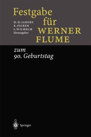 Festgabe für Werner Flume