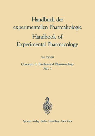 Concepts in Biochemical Pharmacology