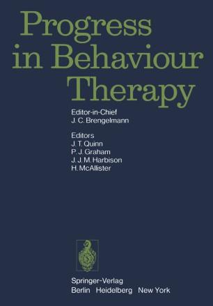 Progress in Behaviour Therapy