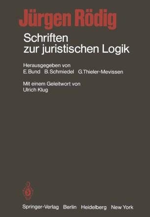 Schriften zur juristischen Logik