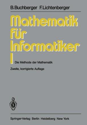 Mathematik für Informatiker I