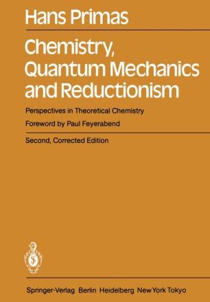 Chemistry, Quantum Mechanics and Reductionism | SpringerLink