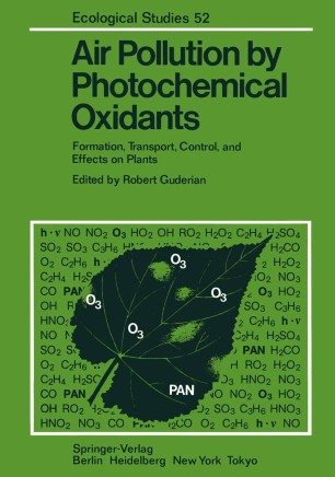 Air Pollution by Photochemical Oxidants