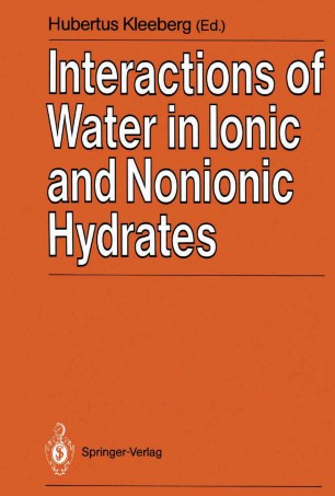 Interactions of Water in Ionic and Nonionic Hydrates