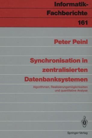Synchronisation in zentralisierten Datenbanksystemen