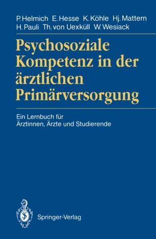 Psychosoziale Kompetenz in der ärztlichen Primärversorgung