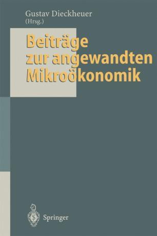 Beiträge zur angewandten Mikroökonomik