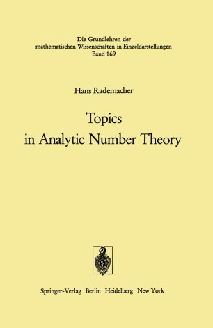 Topics in Analytic Number Theory   SpringerLink