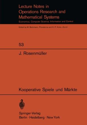 Kooperative Spiele und Märkte