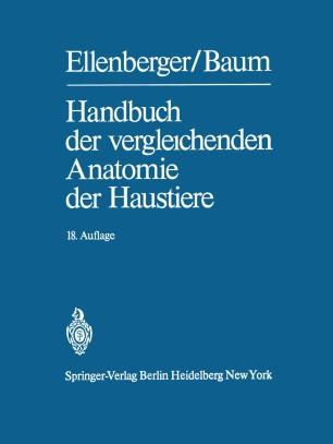 Handbuch der vergleichenden Anatomie der Haustiere | SpringerLink