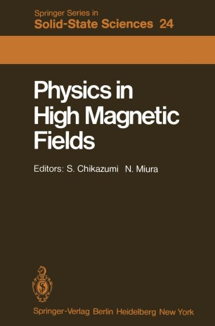 Physics in High Magnetic Fields