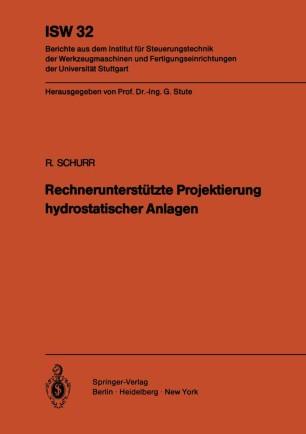 Rechnerunterstützte Projektierung hydrostatischer Anlagen