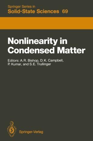 Nonlinearity in Condensed Matter | SpringerLink
