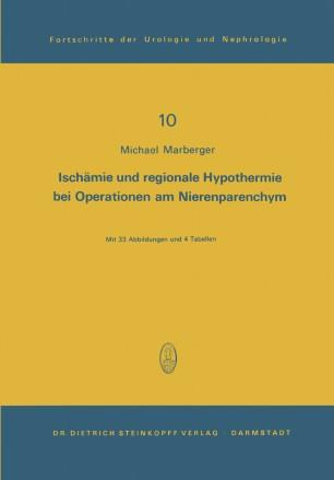Ischämie und regionale Hypothermie bei Operationen am Nierenparenchym